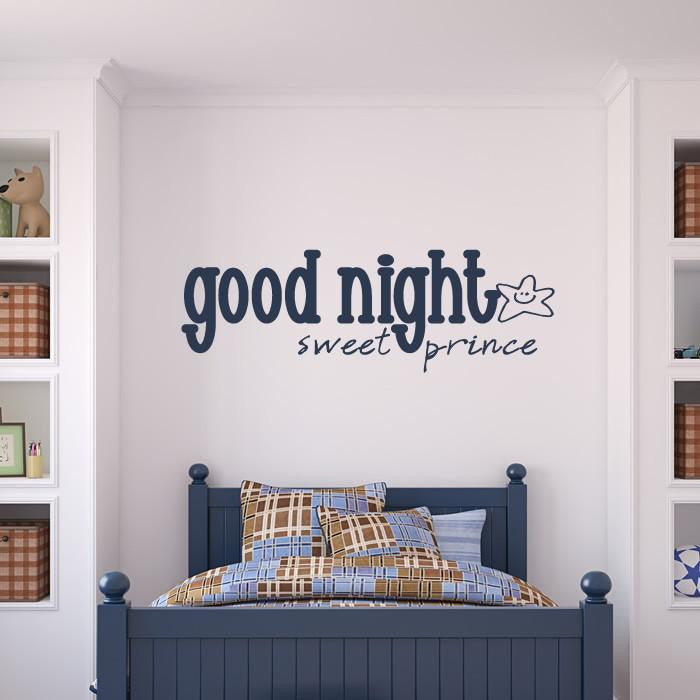 Goodnight Sweet Prince Wall Art Sticker - Apex Stickers
