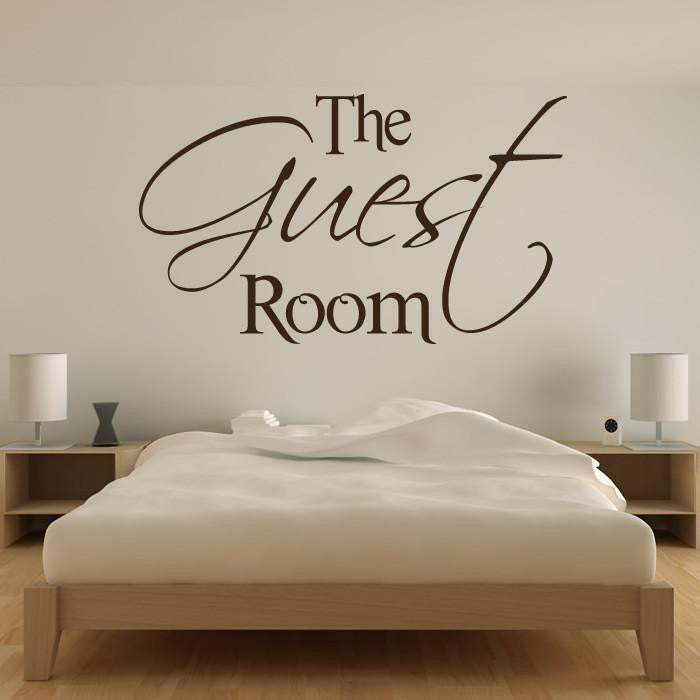 the guest room wall art sticker (as10056) - apex stickers