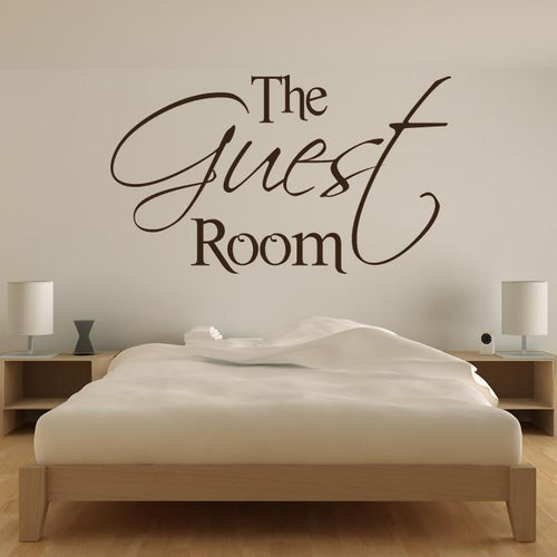 The Guest Room Wall Sticker - Apex Stickers