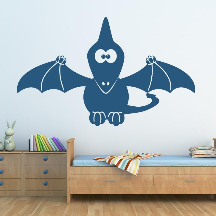 Kids Cartoon Pterodactyl Dinosaur Wall Art Sticker - Apex Stickers
