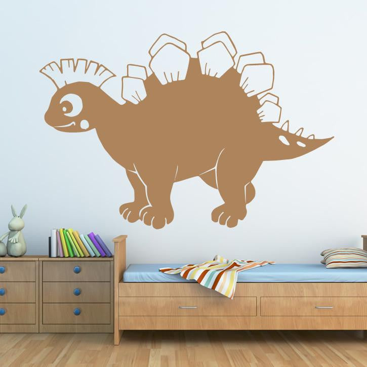 Kids Cartoon Stegosaurus Dinosaur  Wall Art Sticker (AS10060) - Apex Stickers