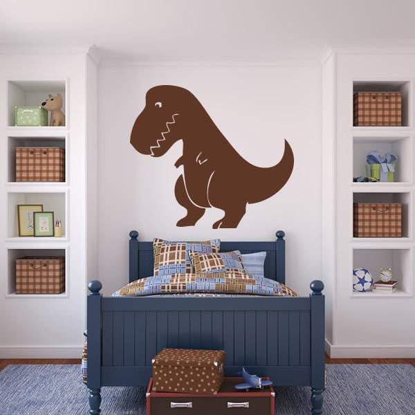 Kids Cartoon T-Rex Dinosaur Wall Art Sticker - Apex Stickers
