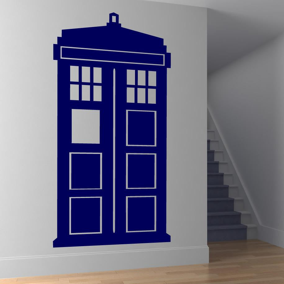 Dr Who Tardis Police Box Wall Art Sticker (AS10062) - Apex Stickers