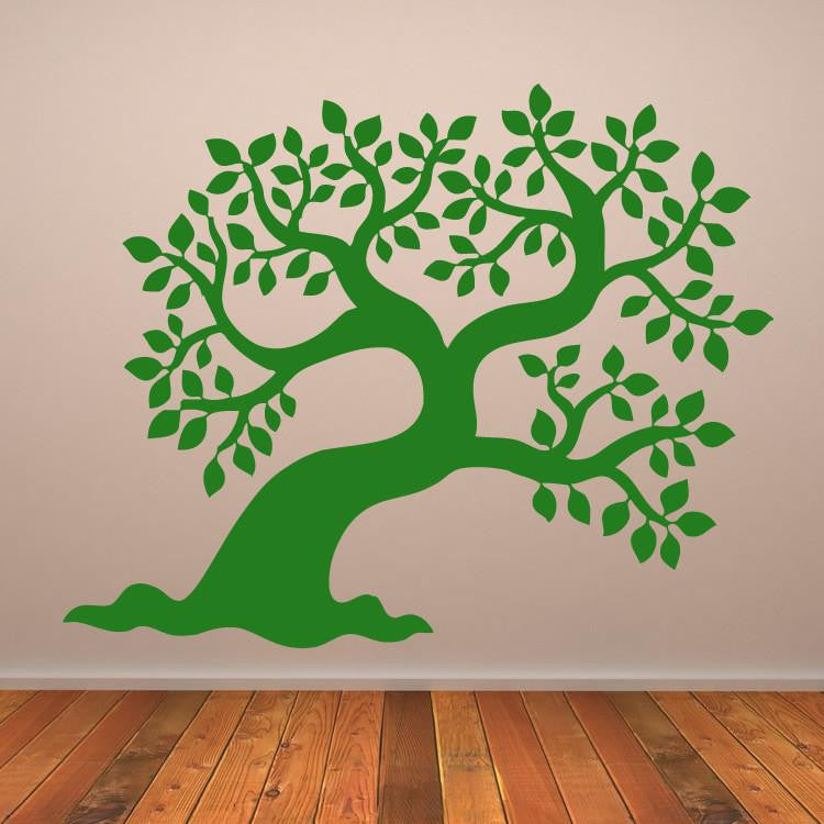 Leafy Tree Wall Art Sticker (AS10063) - Apex Stickers