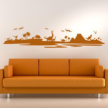 Load image into Gallery viewer, Dinosaur Landscape Wall Art Sticker - Apex Stickers