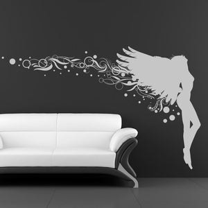 Angel Fairy Embellished Wall Art Sticker (AS10073) - Apex Stickers