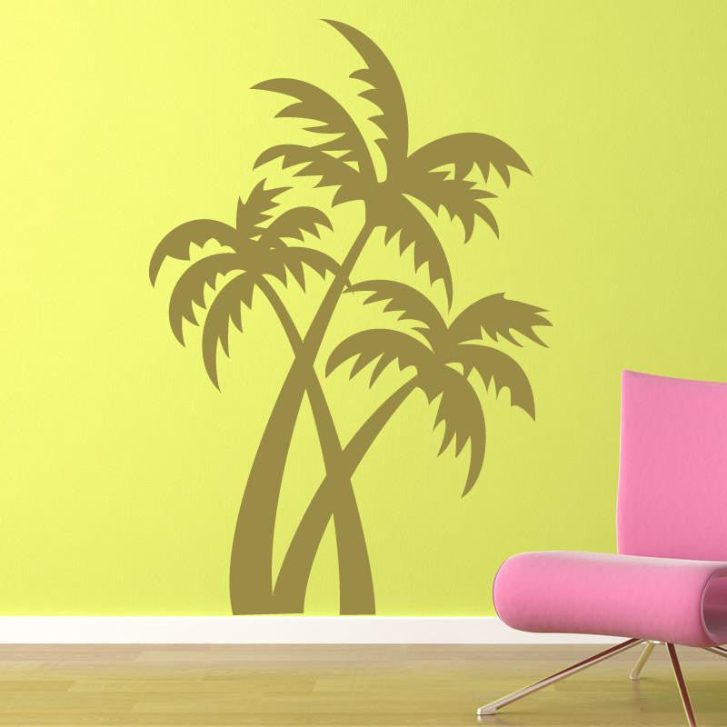 Desert Island Palm Trees Wall Art Sticker (AS10074) - Apex Stickers