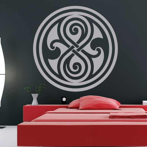 Dr Who Gallifrey Symbol Wall Art Sticker (AS10078) - Apex Stickers