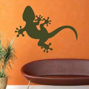 Gecko Wall Art Sticker (AS10079) - Apex Stickers