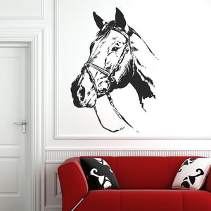 Horse Head Wall Art Sticker (AS10081)