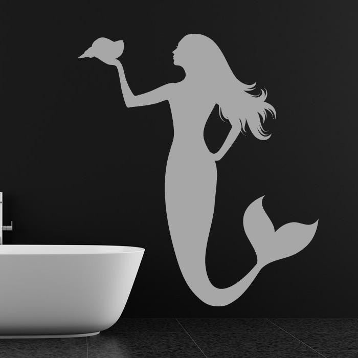 Mermaid Wall Art Sticker (AS10086) - Apex Stickers