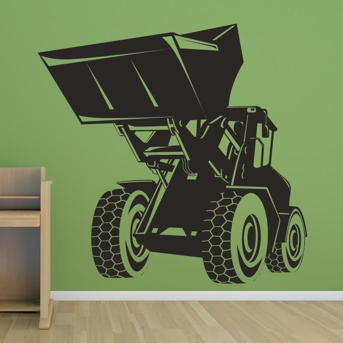 Digger Construction Truck Wall Art Sticker - Apex Stickers