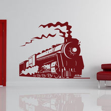 Load image into Gallery viewer, Steam Engine Train Wall Art Sticker - Apex Stickers