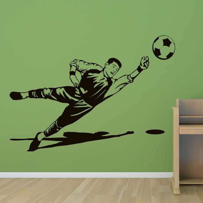 Goalie Save Football Wall Art Sticker - Apex Stickers
