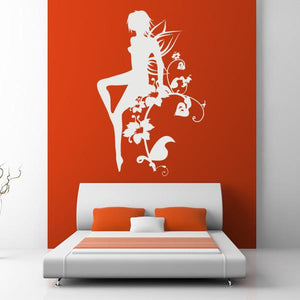 Flower Fairy Girl Wall Art Sticker - Apex Stickers