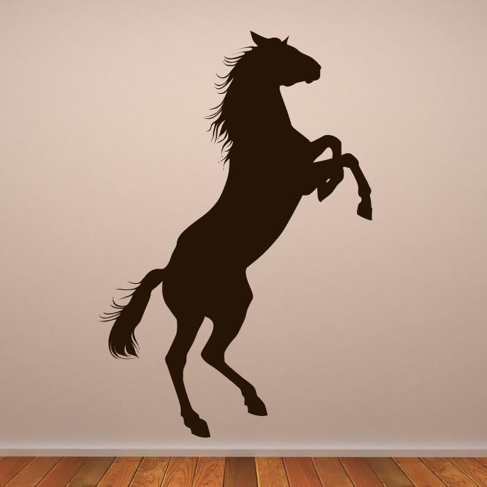 Horse Rearing Wall Art Sticker - Apex Stickers