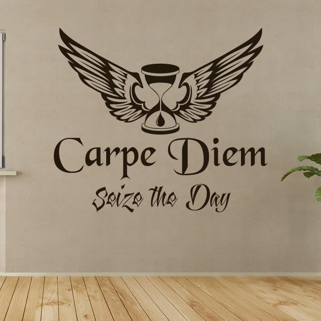 Carpe Diem Seize the Day Wall Art Sticker - Apex Stickers