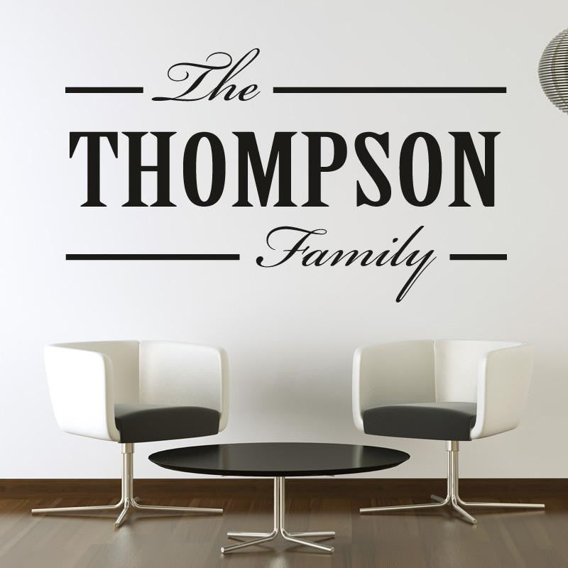 Personalised Family Surname Wall Art Sticker - Apex Stickers