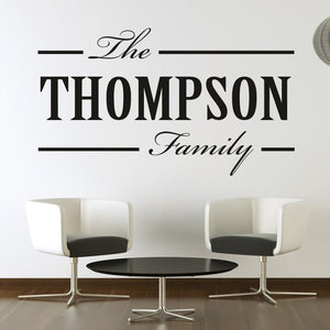 Personalised Family Surname Customisable Name Wall Art Sticker (AS10098) - Apex Stickers