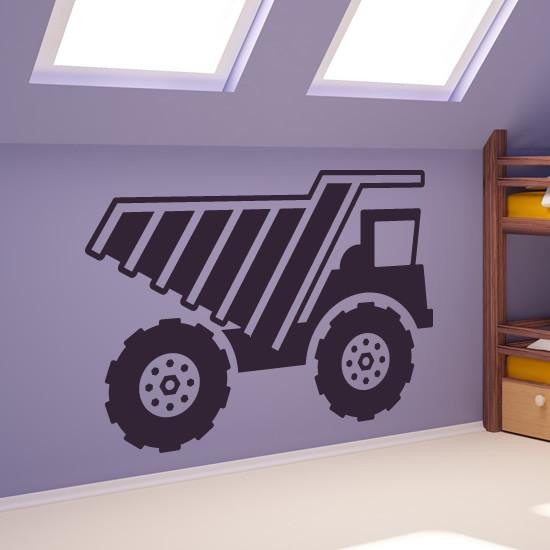 Dump Truck Construction Vehicle Wall Art Sticker (AS10100) - Apex Stickers