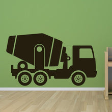 Load image into Gallery viewer, Cement Mixer Truck Wall Art Sticker - Apex Stickers