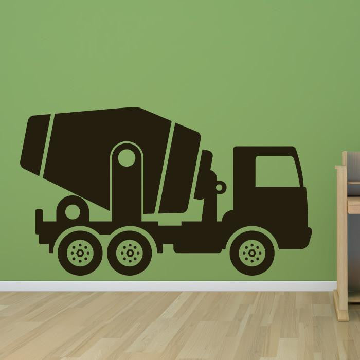 Cement Mixer Truck Construction Vehicle Wall Art Sticker (AS10101) - Apex Stickers