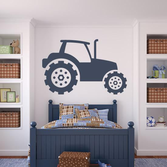 Tractor Construction Vehicle Wall Art Sticker (AS10102) - Apex Stickers