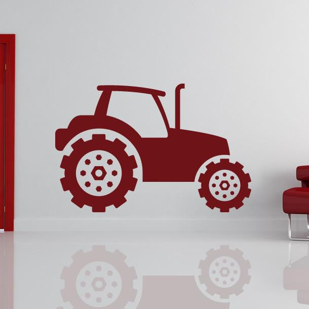 Tractor Construction Vehicle Wall Art Sticker - Apex Stickers