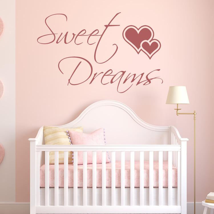 Sweet Dreams Wall Art Sticker (AS10103) - Apex Stickers