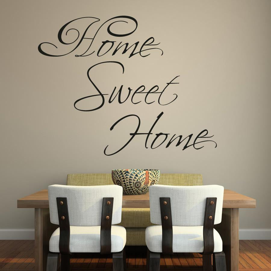 Home Sweet Home Wall Art Sticker (AS10105) - Apex Stickers