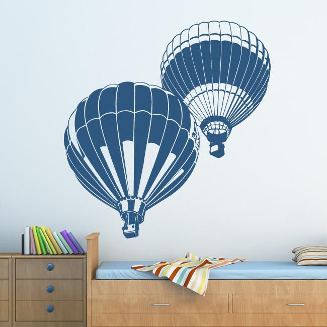Hot Air Balloons Wall Art Sticker (AS10106) - Apex Stickers