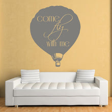 Load image into Gallery viewer, Come Fly With Me Hot Air Balloon Wall Art Sticker - Apex Stickers