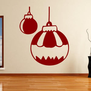 Christmas Baubles Wall Art Sticker (AS10112) - Apex Stickers