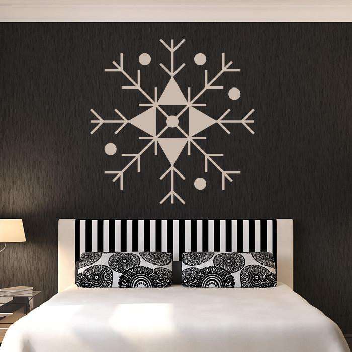 Christmas Snowflake Wall Art Sticker (AS10117) - Apex Stickers