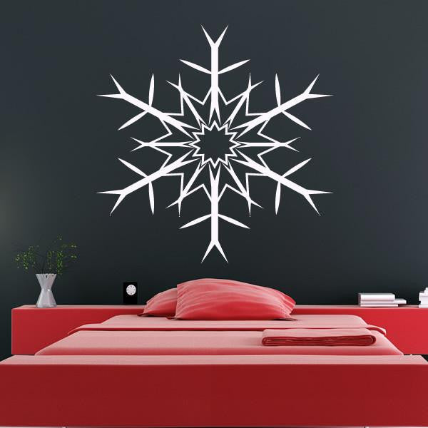 Christmas Snowflake Wall Art Sticker (AS10118) - Apex Stickers