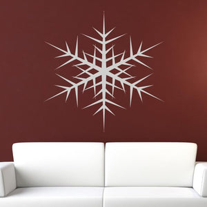 Christmas Snowflake Wall Art Sticker (AS10120) - Apex Stickers