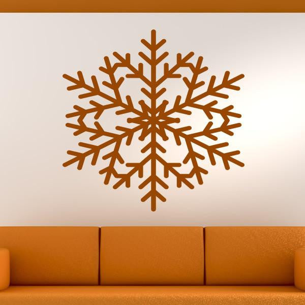 Christmas Snowflake Wall Art Sticker (AS10121) - Apex Stickers