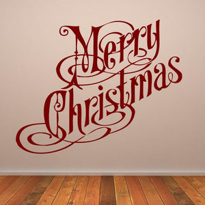 Merry Christmas Quote Wall Art Sticker - Apex Stickers