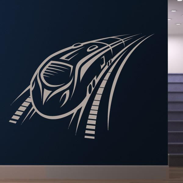 Speeding Intercity Train Wall Art Sticker - Apex Stickers