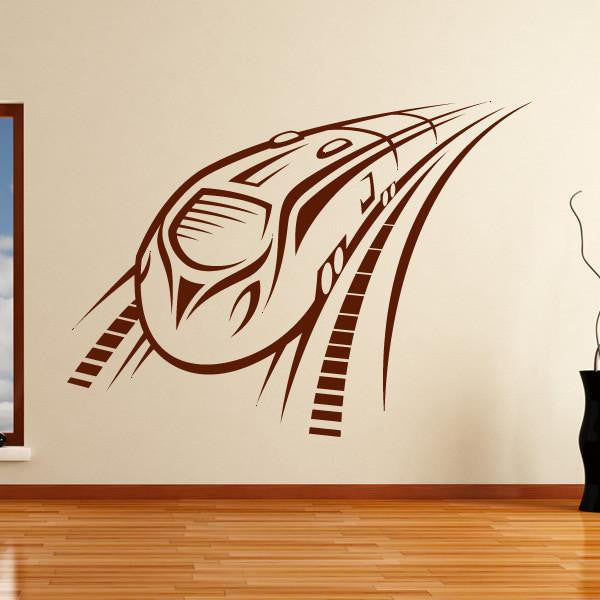 Speeding Intercity Train Wall Art Sticker (AS10134) - Apex Stickers