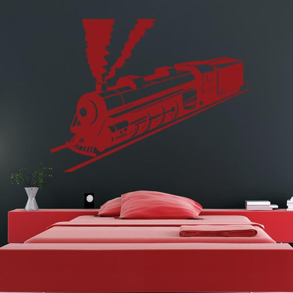 Steam Engine Train Wall Art Sticker (AS10135) - Apex Stickers