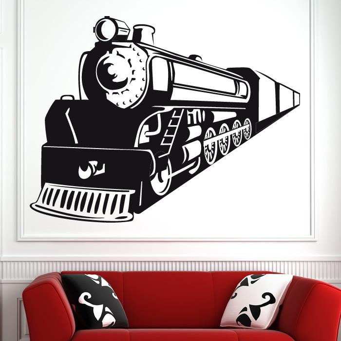 Steam Engine Train Wall Art Sticker (AS10137) - Apex Stickers