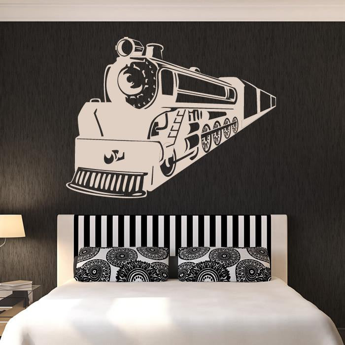 Steam Engine Train Wall Art Sticker - Apex Stickers
