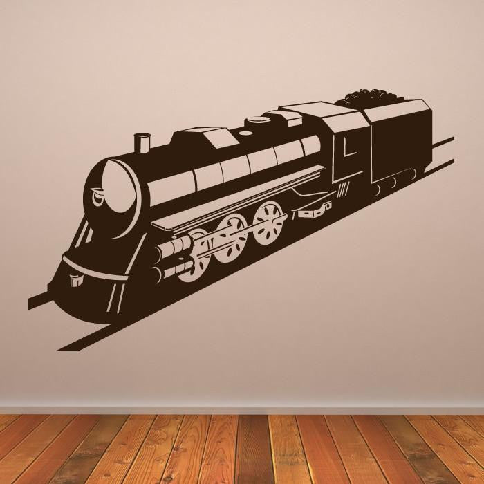 Kids Steam Engine Train Wall Art Sticker (AS10139) - Apex Stickers