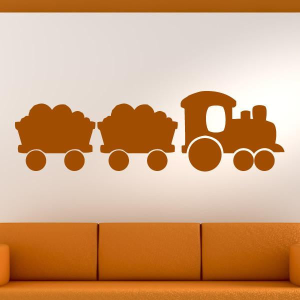 Kids Steam Engine Train Wall Art Sticker (AS10140) - Apex Stickers