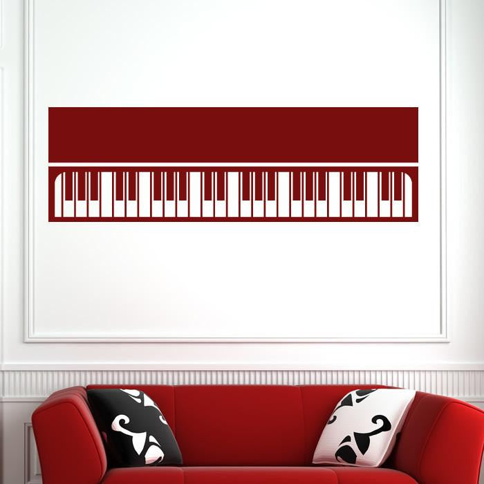 Keyboard Piano Musical Instrument Wall Art Sticker - Apex Stickers