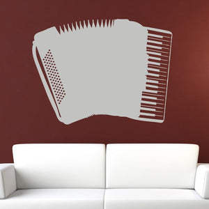 Accordion Musical Instrument Wall Art Sticker (AS10156) - Apex Stickers