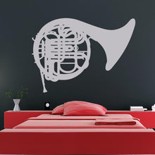 Load image into Gallery viewer, French Horn Musical Instrument Wall Art Sticker - Apex Stickers