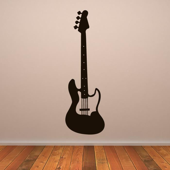 Bass Electric Guitar Musical Instrument Wall Art Sticker AS10160