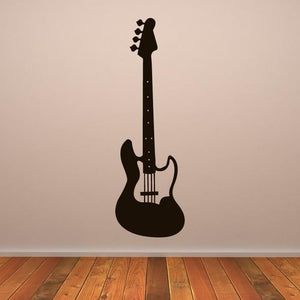 Bass Electric Guitar Musical Instrument Wall Art Sticker (AS10160) - Apex Stickers